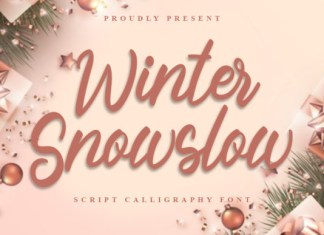 Winter Snowslow Font