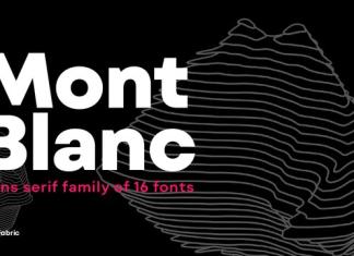 Mont Blanc Font