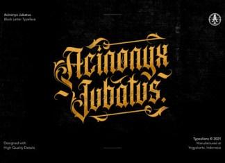 Acinonyx Jubatus Font