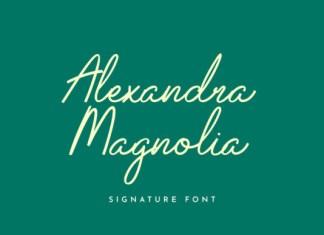 Alexandra Magnolia Font