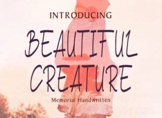 Beautiful Creature Font