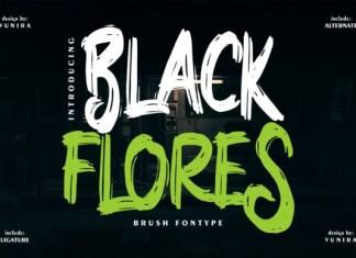 Black Flores Font