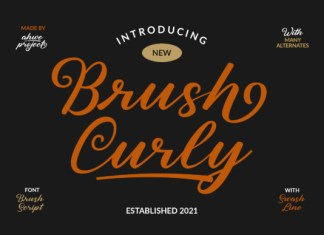Brush Curly Font
