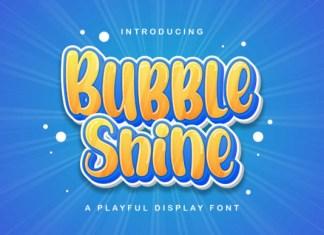 Bubble Shine Font