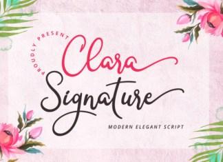 Clara Signature Font