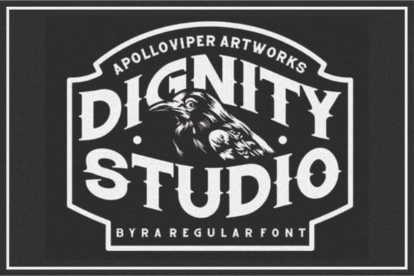 Dignity Studio Font