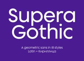 Supera Gothic Font