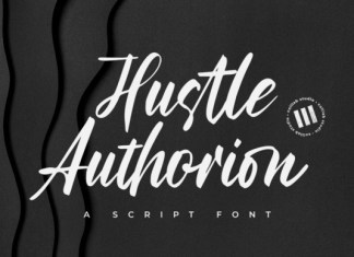 Hustle Authorion Font