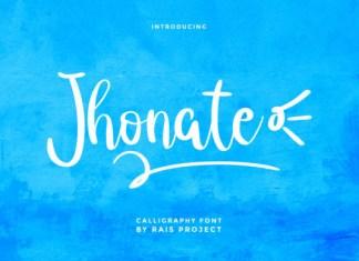 Jhonate Font