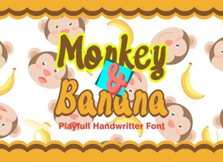 Monkey and Banana Font