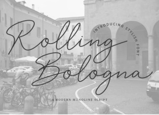 Rolling Bologna Font