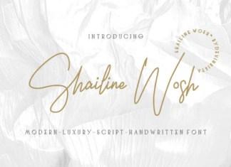 Shailine Wosh Font