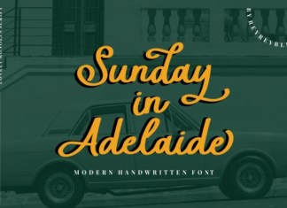 Sunday in Adelaide Font
