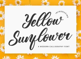Yellow Sunflower Font