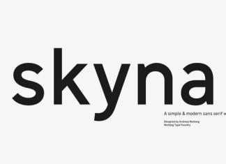 Skyna Font