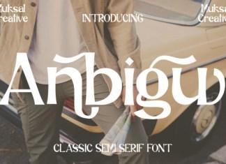 Anbigu Font