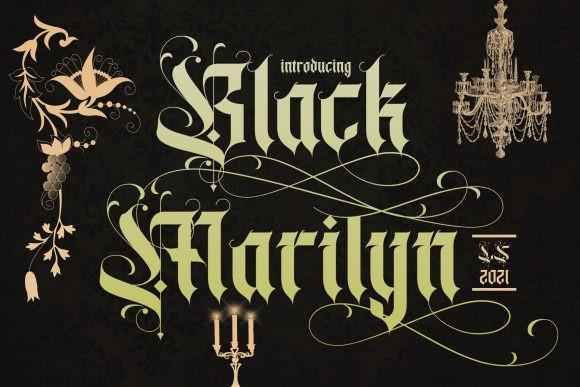 Black Marilyn Font