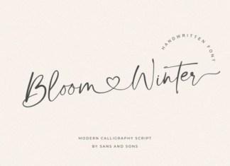 Bloom Winter Font