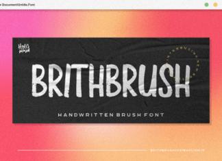 Brith Brush Font