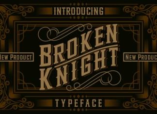 Broken Knight Font