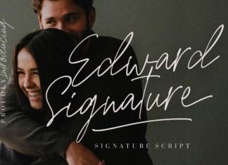 Edward Signature Font