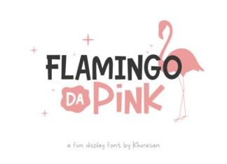 Flamingo Da Pink Font
