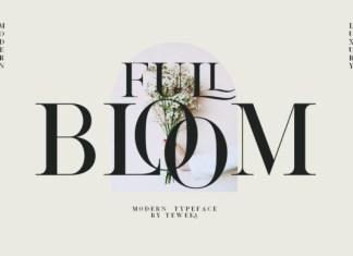 Full Bloom Font