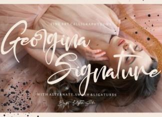 Georgina Signature Font