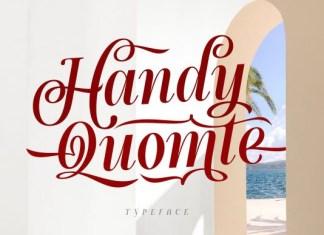 Handy Quomte Font