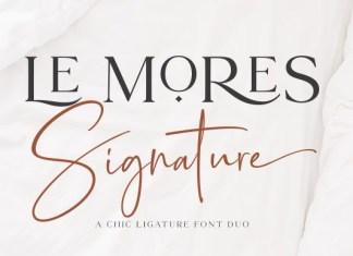 Le Mores Signature Font