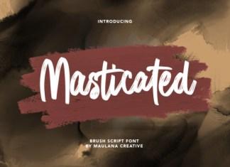 Masticated Font
