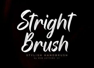 Stright Brush Font