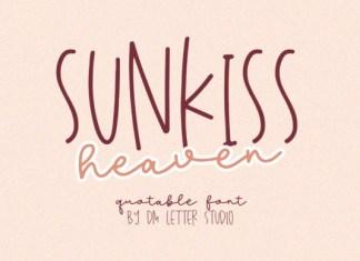 Sunkiss Heaven Font