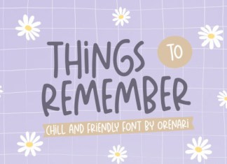 Things to Remember Font