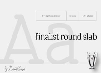 Finalist Round Slab Font