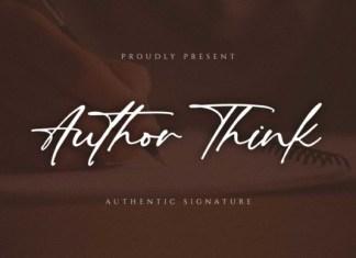 Author Think Font