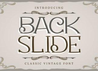 Back Slide Font