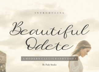 Beautiful Odete Font
