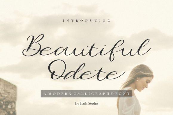 Beautiful Odete Font