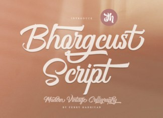Bhorgcust Font