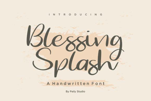 Blessing Splash Font