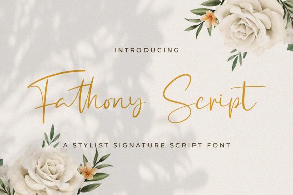 Fathony Font