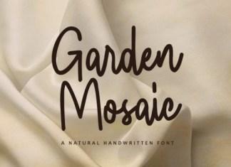 Garden Mosaic Font