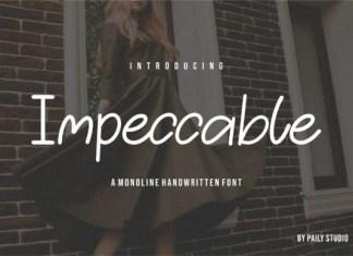 Impeccable Font