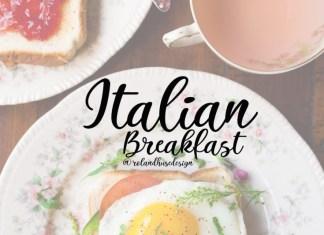 Italian Breakfast Font