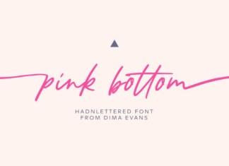 Pink Bottom Font