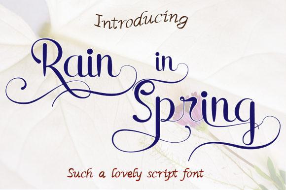 Rain in Spring Font