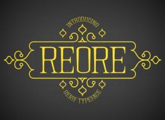 Reore Font