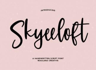 Skyeeloft Font