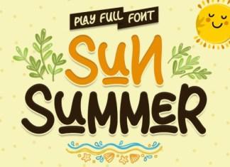Sun Summer Font
